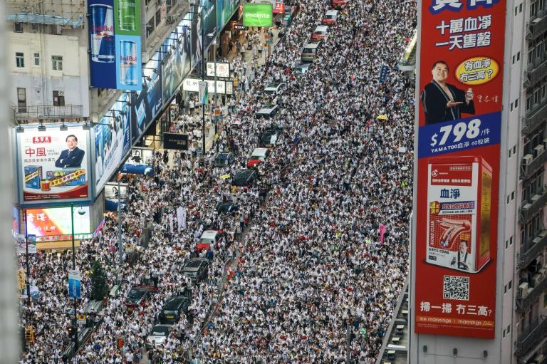 La manifestation contre le projet de loi sur l'extradition de Hong Kong vers la Chine le 9 juin 2019