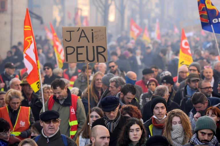 La manifestation contre la réforme des retraites, le 5 décembre 2019 à Bordeaux