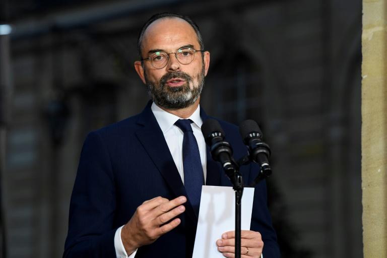 Le Premier ministre Edouard Philippe s'exprime le 6 décembre 2019 à Matignon