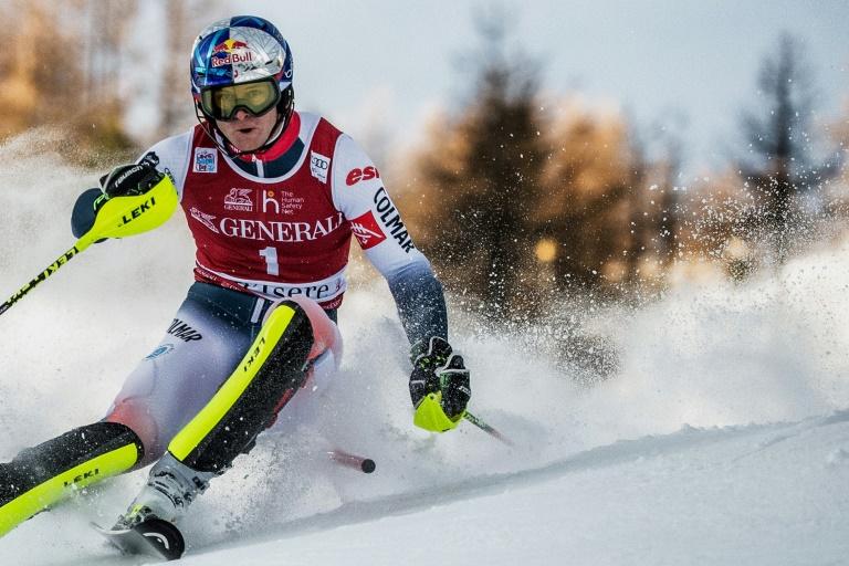 Le skieur français Alexis Pinturault lors du slalom messieurs de Val d'Isère, le 15 décembre 2019
