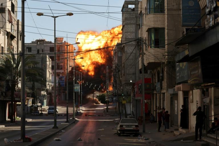 Un raid aérien israélien sur la ville de Gaza, le 14 mai 2021