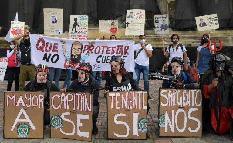Manifestation à Bogota le 12 mai 2021
