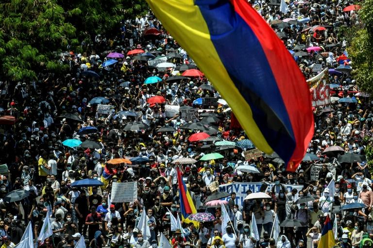 Manifestation contre le président Ivan Duque à Bogota, le 5 mai 2021