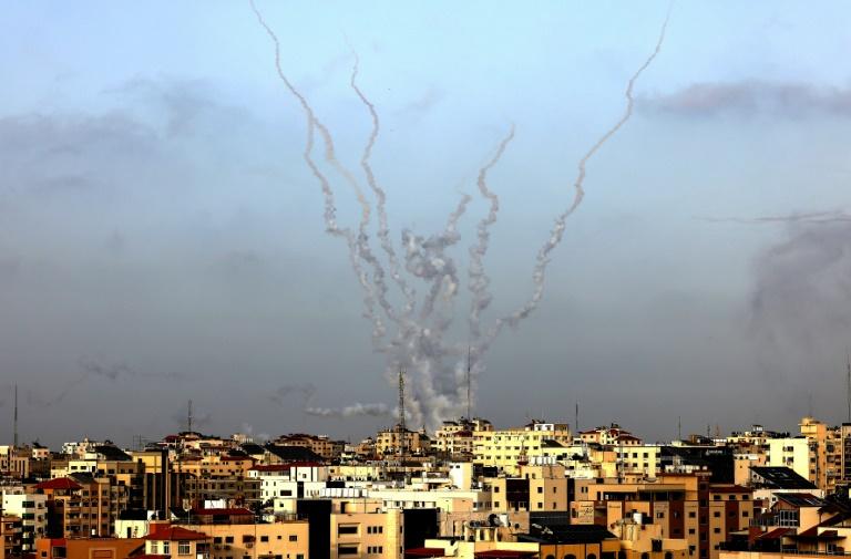 Des roquettes ont été tirées de Gaza vers Israël, le 10 mai 2021