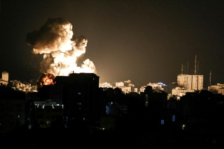 Frappes aériennes de l'armée israélienne sur la bande de Gaza, le 13 mai 2021
