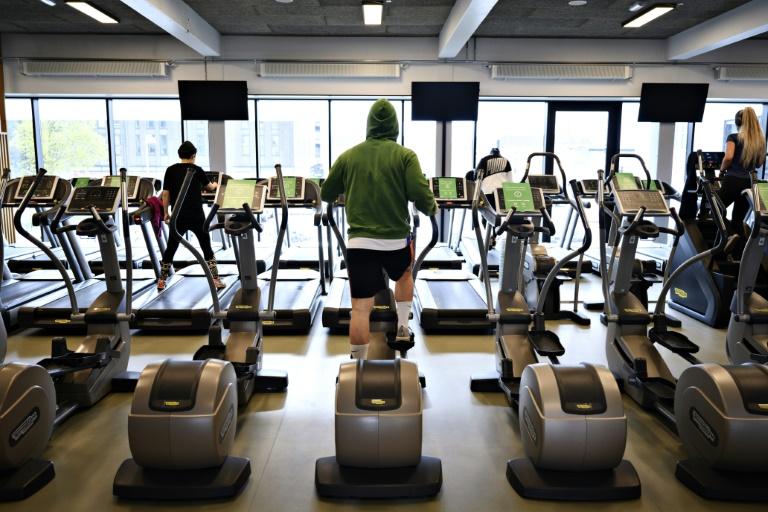 Une salle de sport à Copenhague le 6 mai 2021