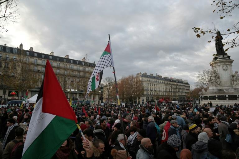 Manifestation pro palestinienne le 9 décembre 2017 à Paris