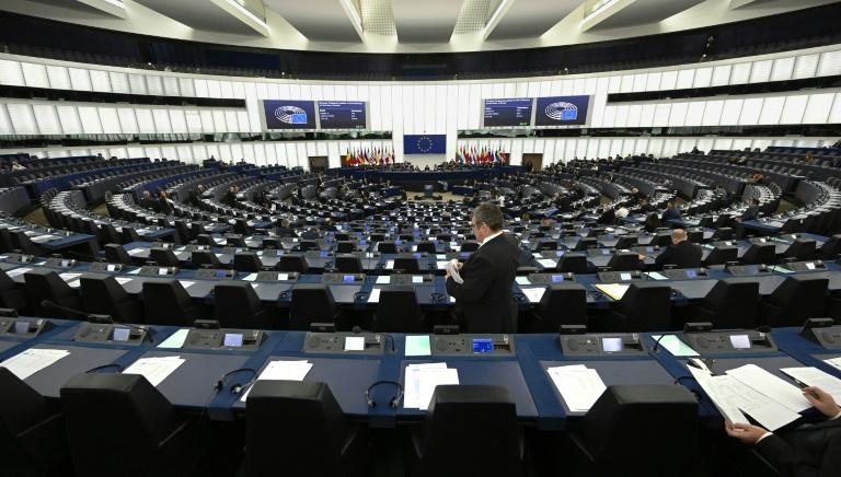 L'hémicycle du Parlement européen lors d'un débat sur l'avenir de l'Europe, le 15 janvier 2020 à Strasbourg