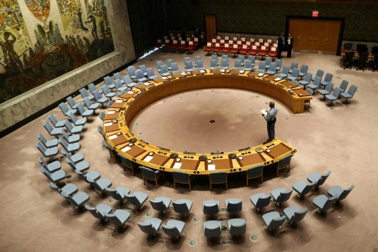 La salle du Conseil de sécurité de l'ONU le 20 septembre 2017