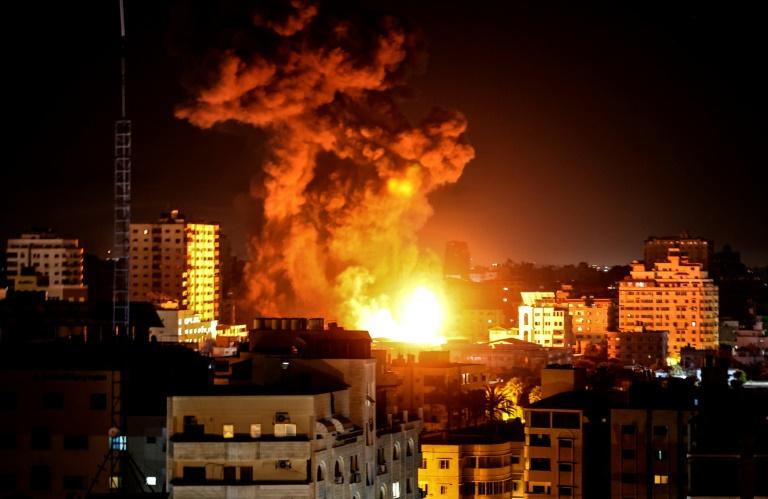 Bombardement israélien à Gaza, le 17 mai 2021