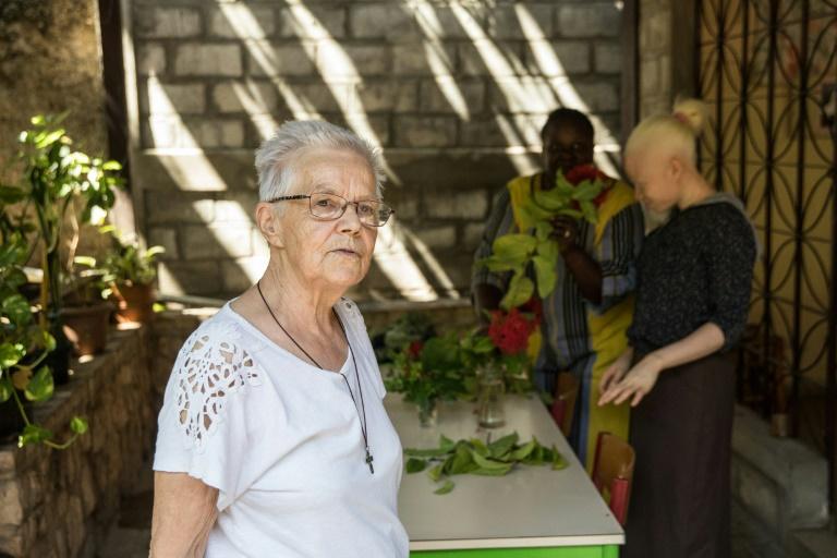 La soeur Agnès Bordeau à Port-au-Prince, le 8 mai 2021