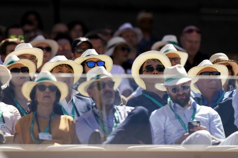 Le public de Roland-Garros sur le central Philippe-Chatrier le 2 juin 2019 à Paris