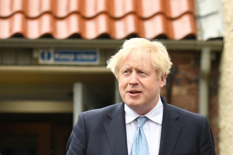 Le Premier ministre britannique Boris Johnson à Hartlepool, dans le nord-est de l'Angleterre, le 7 mai 2021