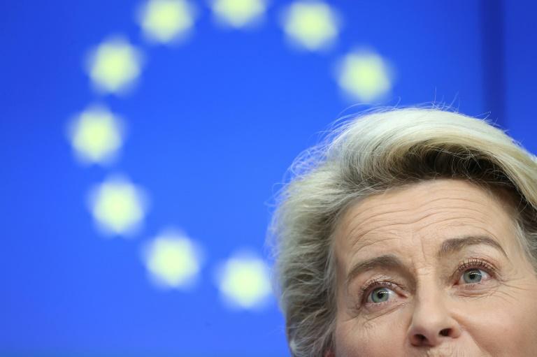 La présidente de la Commision européenne Ursula von der Leyen, le 15 juin 2021 à Bruxelles
