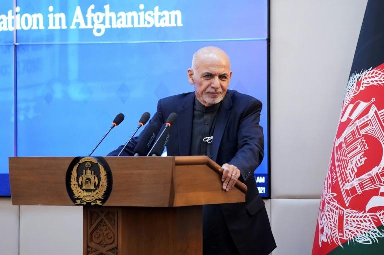 Le président afghan Ashraf Ghani à Kaboul le 23 février 2021