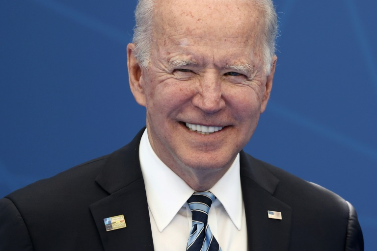 Le président américain Joe Biden lors du sommet de l'Otan à Bruxelles le 14 juin 2021