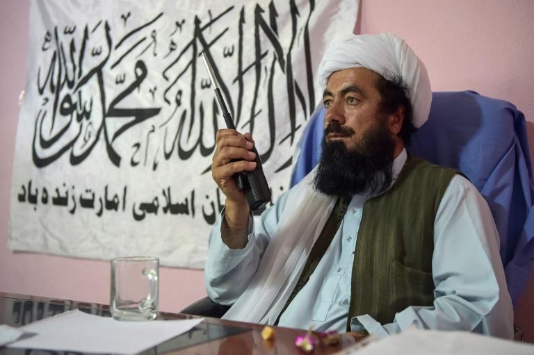 Le mollah Misbah, commandant taliban, à Andar, en Afghanistan, le 3 juin 2021
