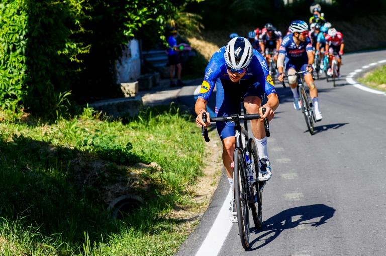 Rémi Cavagna, sacré dimanche chamion de France sur route, lors de la 18e étape du Tour d'Italie entre Rovereto et Stradella le 27 mai 2021