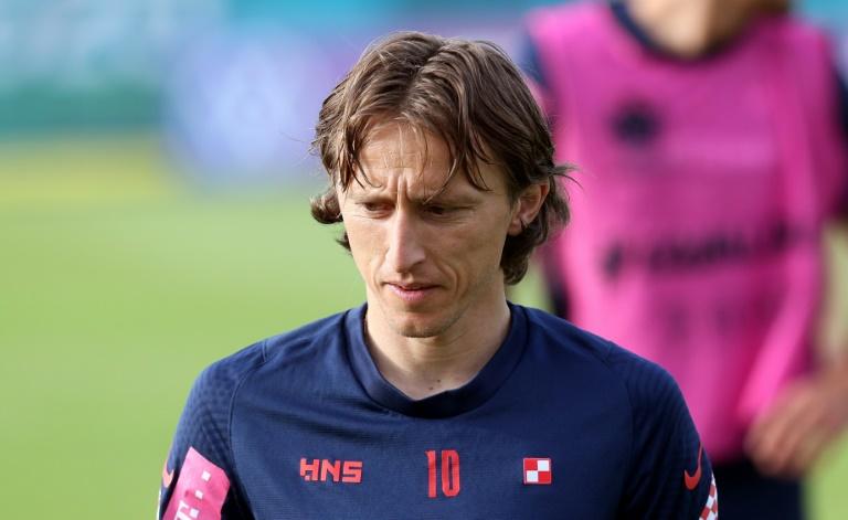 Le capitaine croate Luka Modric à l'entraînement à Rovinj le 20 juin 2021