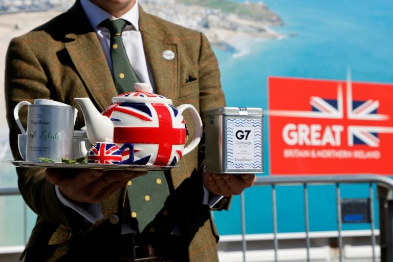 Un thé a été offert aux participants du sommet du G7, à Falmouth, au Royaume-Uni, le 13 juin 2021