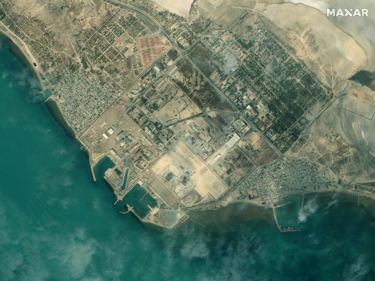 Image satellite fournie par Maxar Technologies le 8 janvier 2020 de la centrale nucléaire de Bouchehr, dans le sud de l'Iran