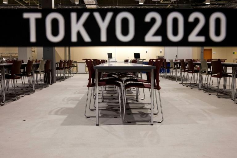 La salle de restaurant principale du village olympique à Tokyo, le 20 juin 2021