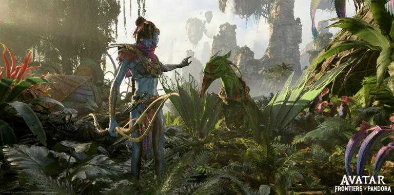 Capture d'écran fournie par Ubisoft d'un extrait du prochain jeu vidéo basé sur le film Avatar, de James Cameron, baptisé