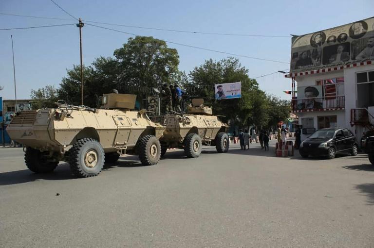 Une rue de Kunduz tenue par l'armée régulière afghane, le 31 août 2019