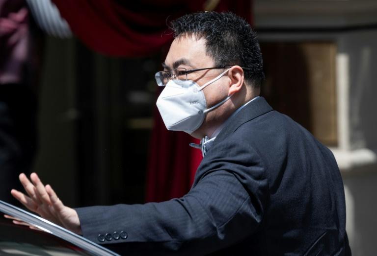 L'ambassadeur chinois aux Nations Unies arrive au Grand Hôtel de Vienne pour une réunion sur le nucléaire iranien, le 20 juin 2021