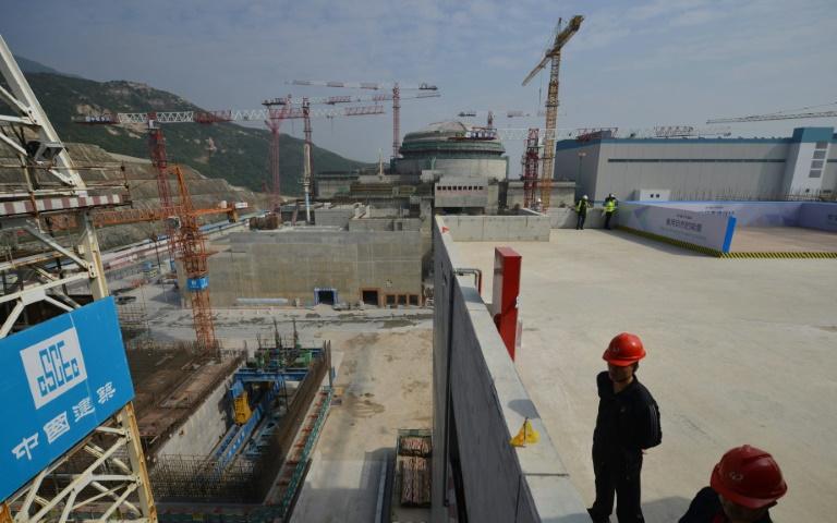 La centrale nucléaire de Taishan pendant sa construction, le 8 décembre 2013 dans la province chinoise du Guangdong