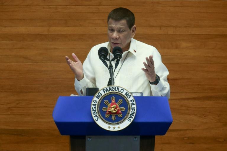 Le président philippin Rodrigo Duterte, le 27 juillet 2020 à Manille