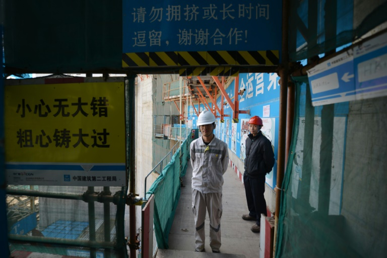 Sur le chantier de la construction de la centrale nucléaire de Taishan, le 8 décembre 2013