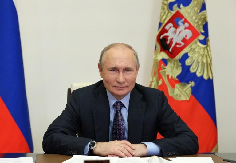 Le président russe Vladimir Poutine à sa résidence de Novo-Ogaryovo, près de Moscou, le 9 juin 2021