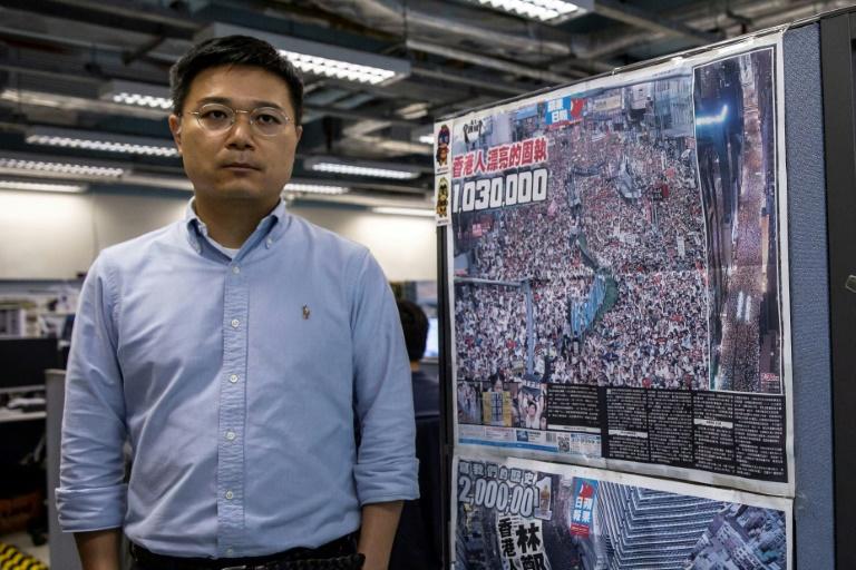 Le rédacteur en chef de l'Apple Daily Ryan Law, le 13 mai 2021 à Hong Kong