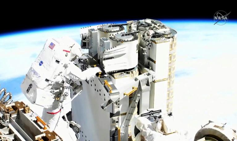 L'astronaute Thomas Pesquet lors de sa sortie spatiale le 16 juin 2021