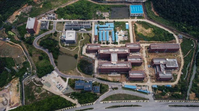 Vue aérienne du laboratoire P4 de l'Institut de virologie de Wuhan (Chine) en mai 2020
