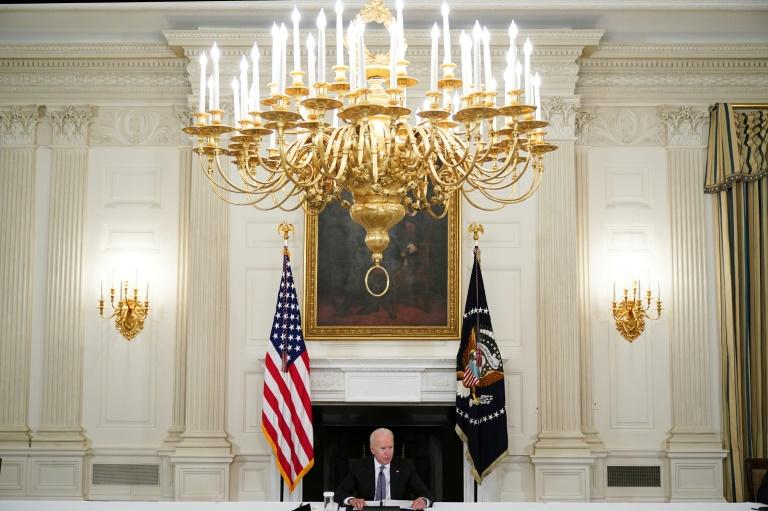 Le président américain Joe Biden s'exprime lors d'une réunion avec des Américains d'origine cubaine, le 30 juillet à la Maison Blanche