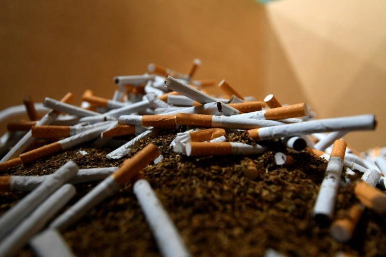 Des cigarettes de marque contrefaites découvertes par des douaniers à Aartselaar, près de Bruxelles, le 4 août 2021