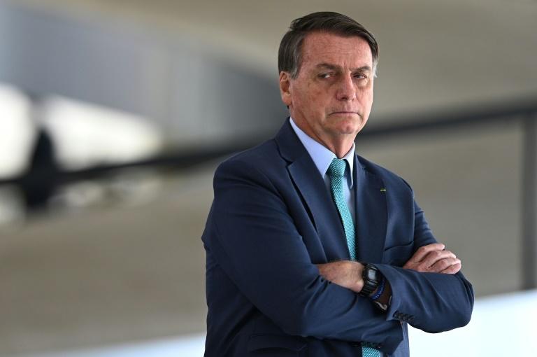Le président brésilien Jair Bolsonaro, le 30 juillet 2021 à Brasilia