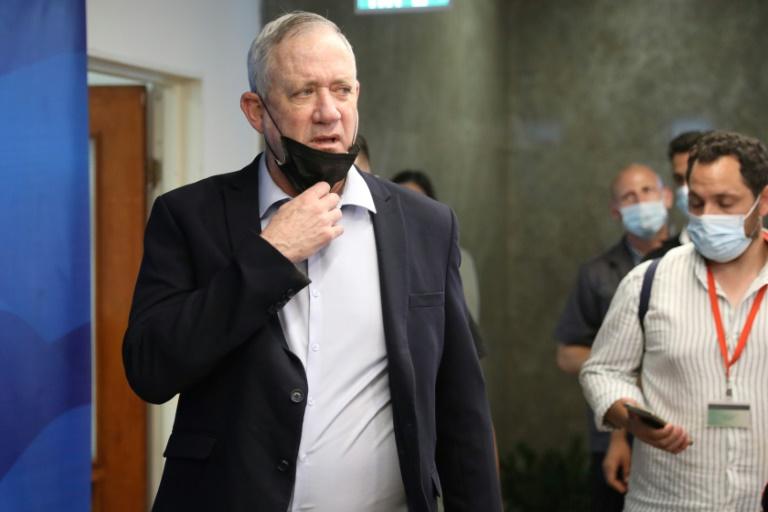 Le ministre israélien de la Défense, Benny Gantz, arrive pour une réunion au bureau du Premier ministre à Jérusalem, le 1er août 2021