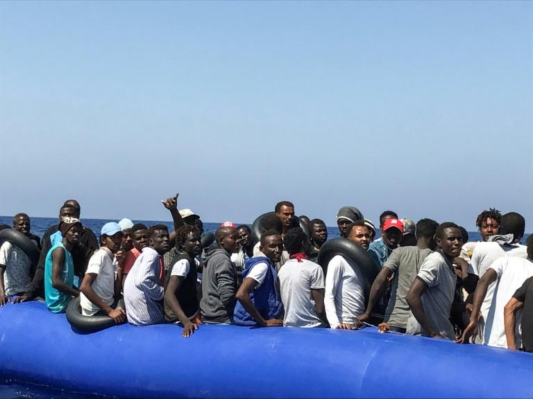 Des dizaines de migrants secourus lors d'une opération en Méditerranée le 11 août 2019