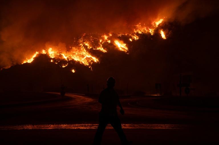 Le feu près de la centrale thermique Kemerkoy près de Milas, dans le sud de la Turquie, le 4 août 2021