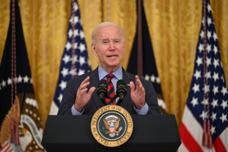 Joe Biden lors d'un discours à la Maison Blanche le 3 août 2021
