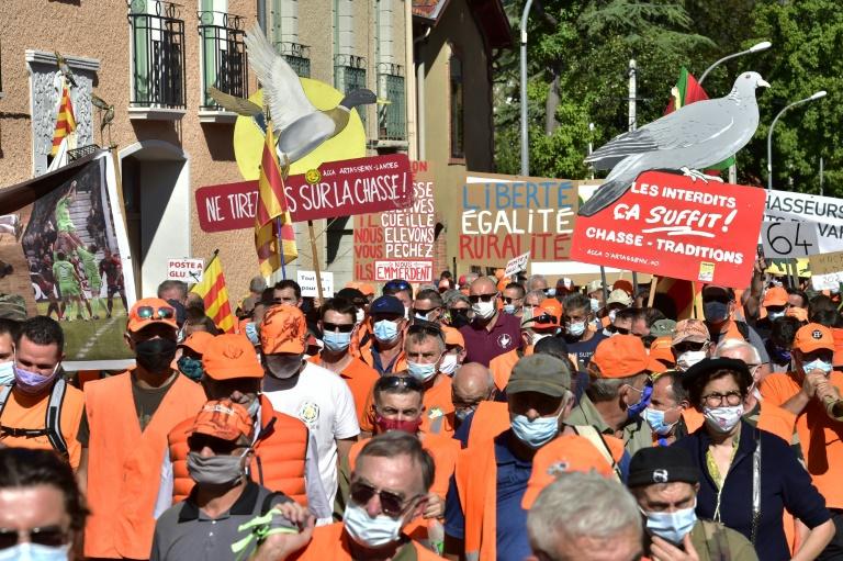 Manifestation pour la chasse à la glu le 12 septembre 2020 à Prades
