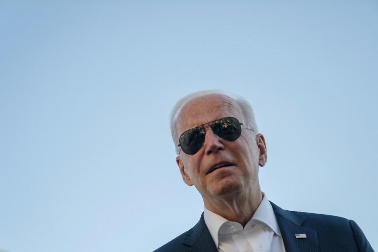 Joe Biden dans les jardins de la Maison Blanche le 26 septembre 2021