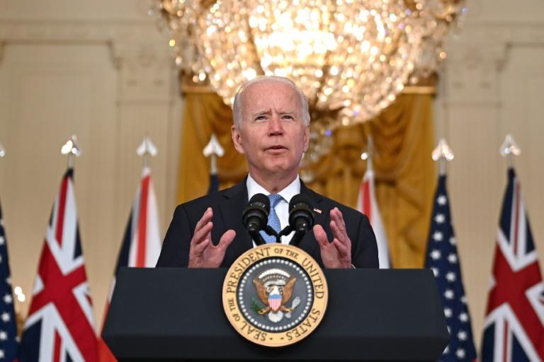 Le président américain Joe Biden à la Maison Blanche, le 15 septembre 2021 à Washington