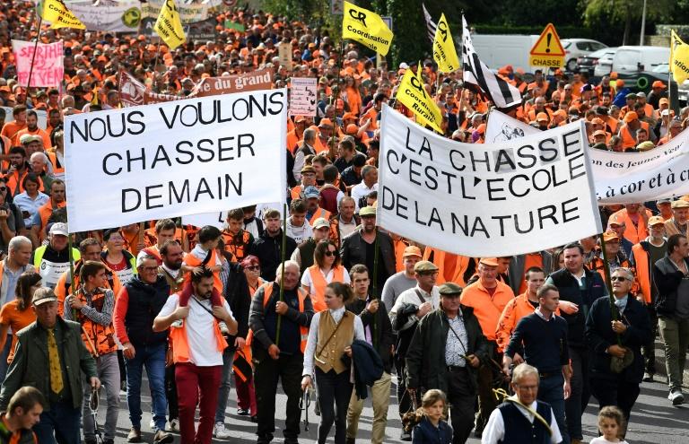 Manifestation pro-chasse à Redon le 18 septembre 2021