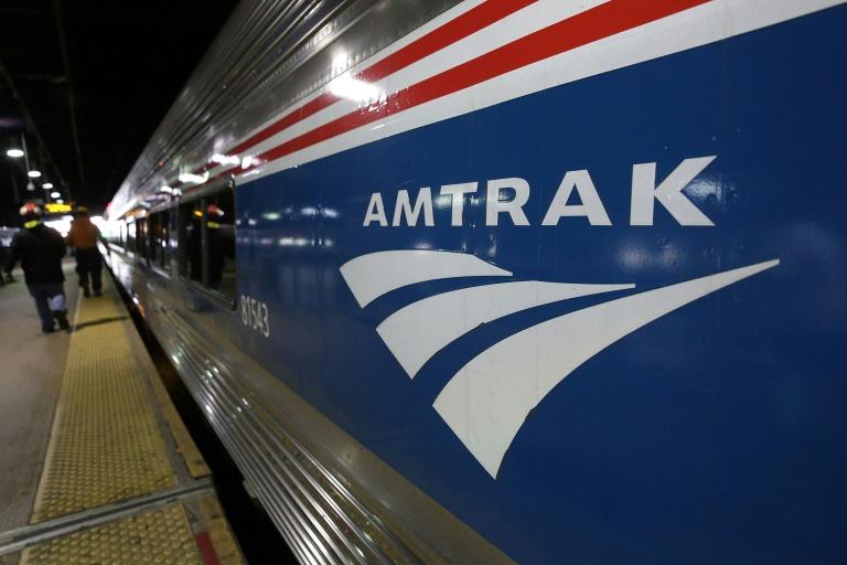 Un train Amtrak à Union Station en novembre 2017 à Washington