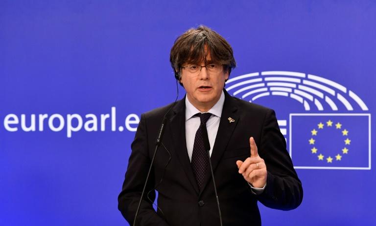 Carles Puigdemont au Parlement européen le 9 mars 2021