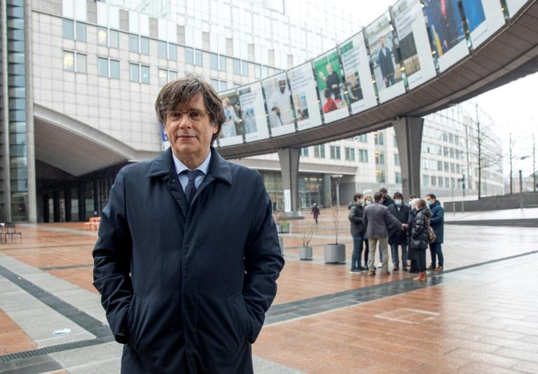 Le leader indépendantiste catalan et eurodéputé Carles Puigdemont, en mars 2021 à Bruxelles